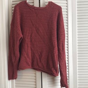 Cozy red sweater